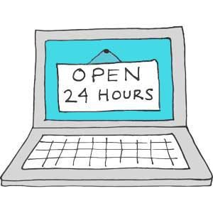 Website Open 24 Hours